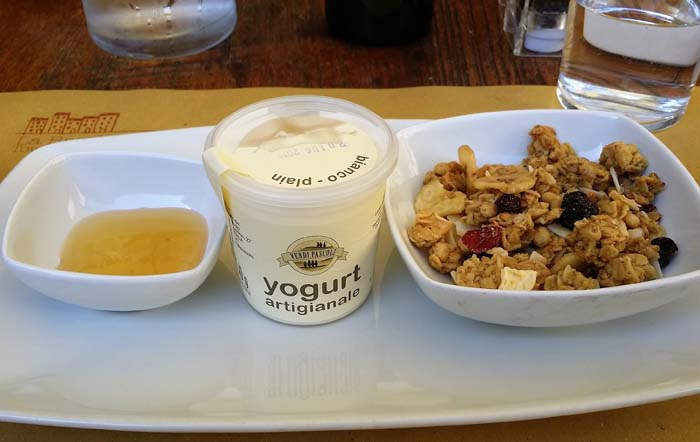 Yogurt breakfast at La Bandita Townhouse