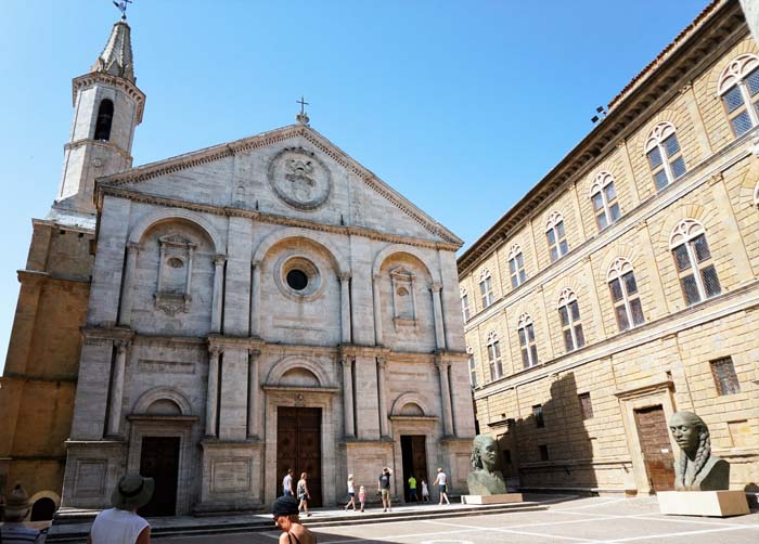 Cathedral in Pienza Italy