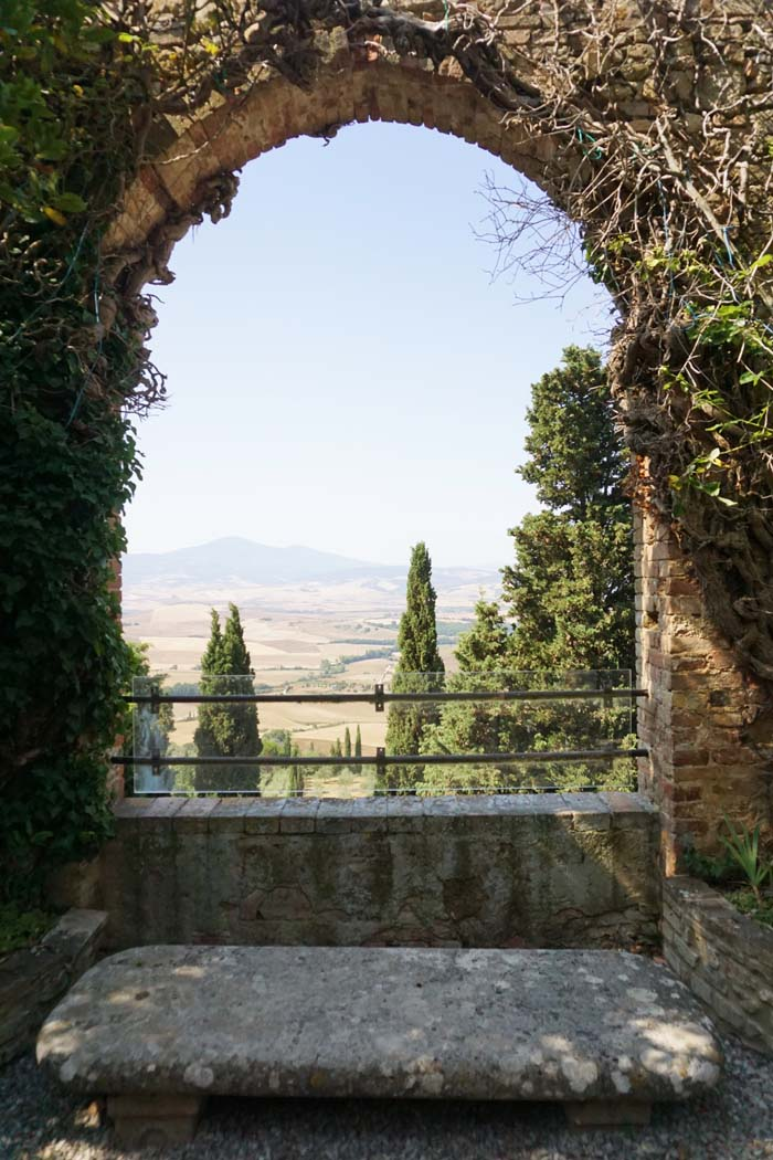 View from Palazzo Picoolomini in Pienza