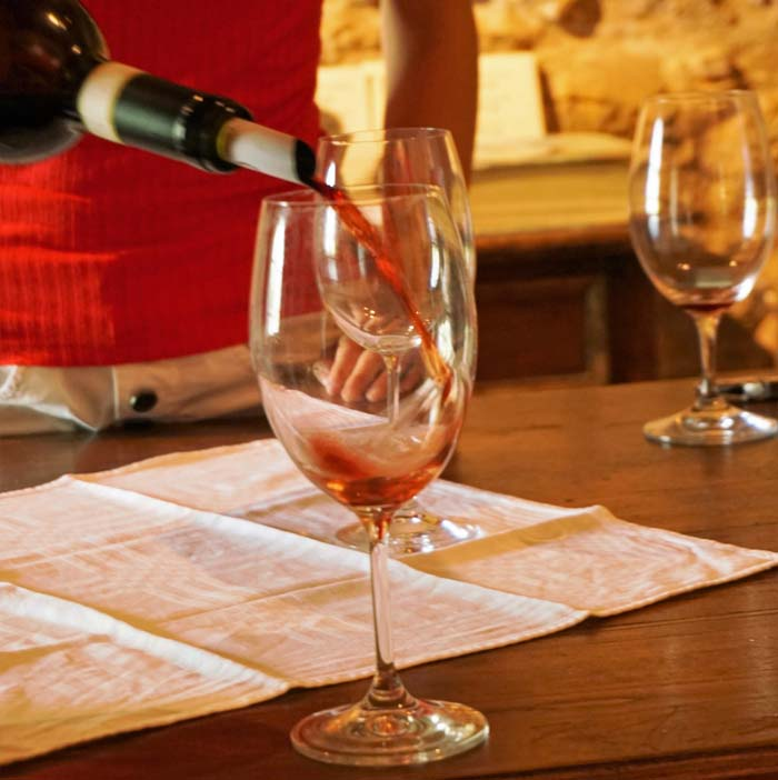 Tasting wine at Mate Winery