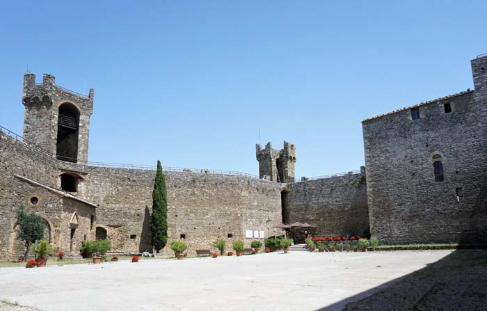 Inside the fortress in Montalcino