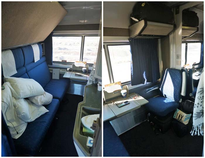Our Amtrak train Compartment