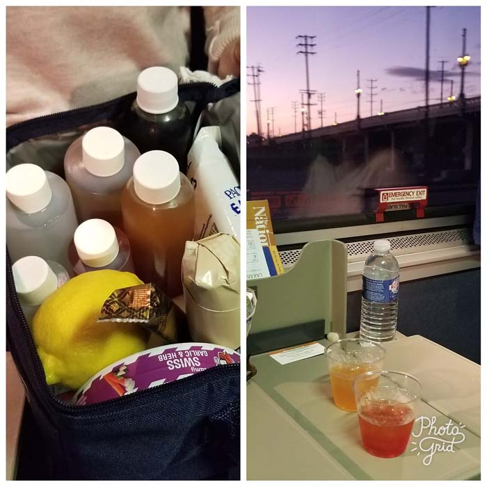Mobile bar on the train
