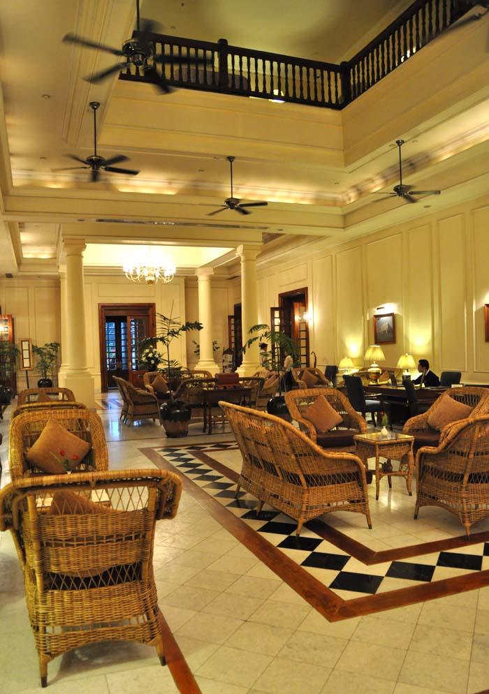 Strand Hotel Lobby Yangon Myanmar